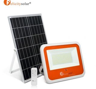 100W Waterproof Solar Flood Light With Remote Control5